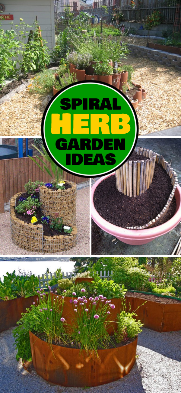 10 spiral herb garden ideas for Limited space gardening ideas