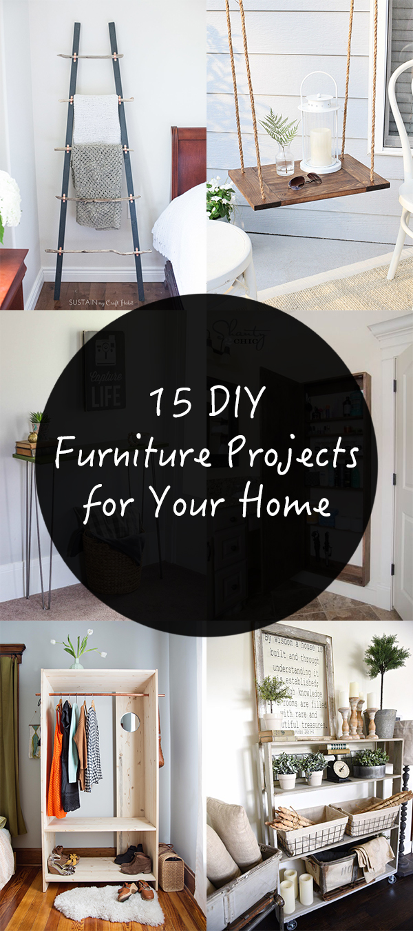 15 Awesome DIY Furniture Projects for Your Home