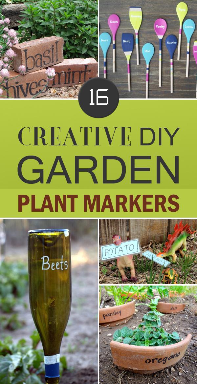 16 Creative DIY Garden Plant Markers