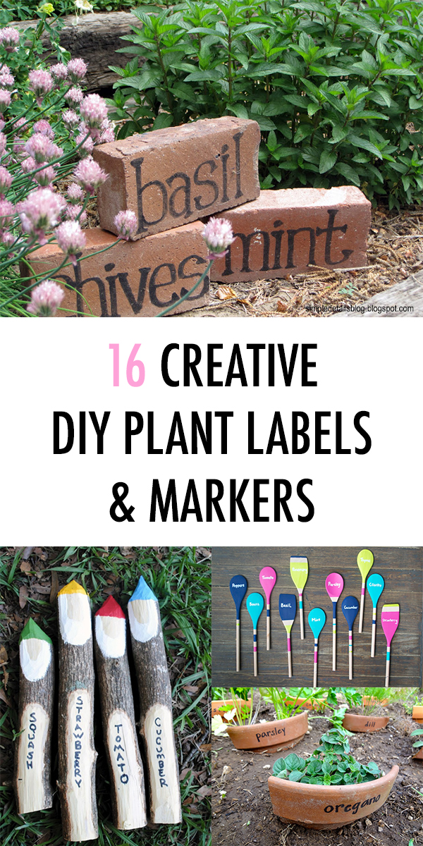 16 Creative DIY Plant Labels & Markers