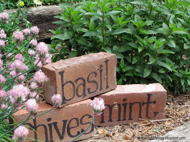 Brick Style Garden Markers