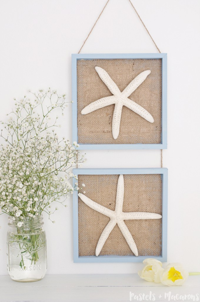 Burlap Coastal Wall Decor