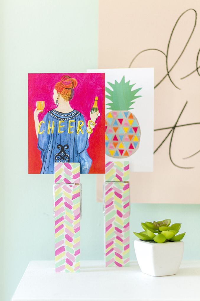 Clothespin Photo Holders