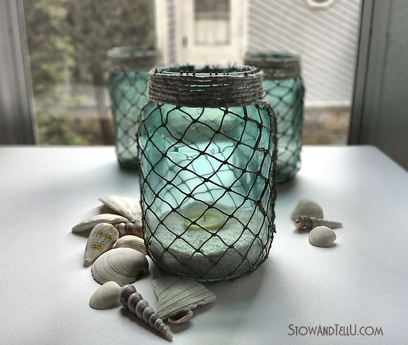 Nautical Netted Jars