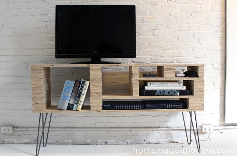 Plywood Media Console