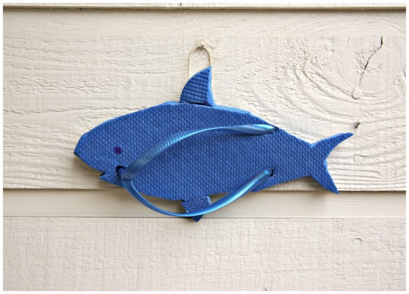 Shark Flip-Flop Sculpture Wall Art