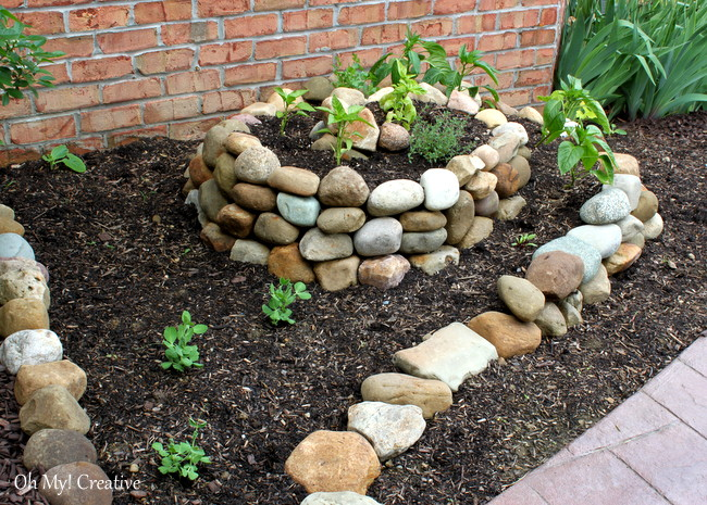 Spiral Garden Made of Rocks and Stones