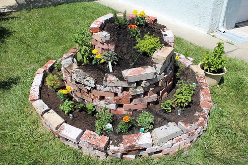 The Brick Herb Spiral