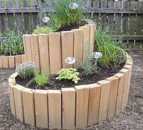 Wooden Spiral Garden