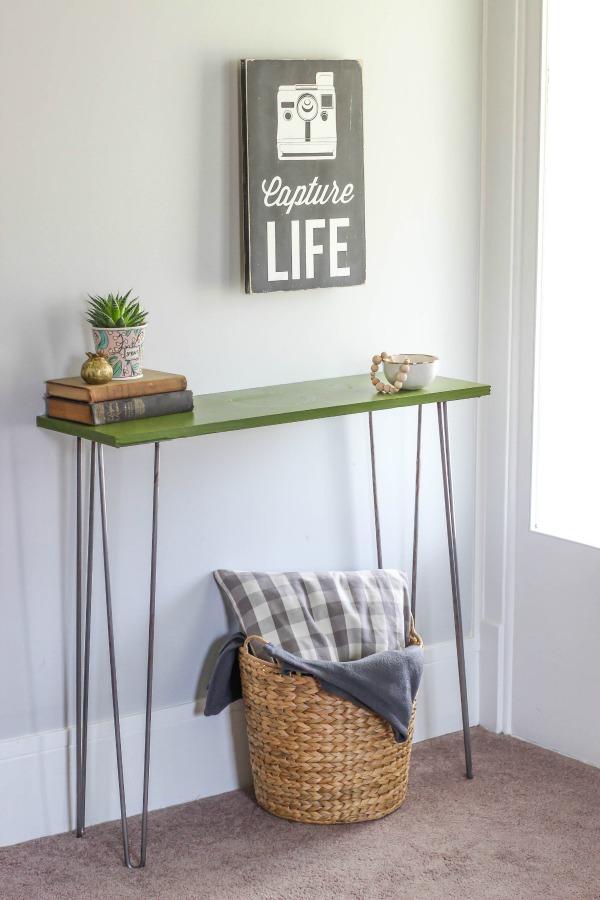 hairpin leg entryway table