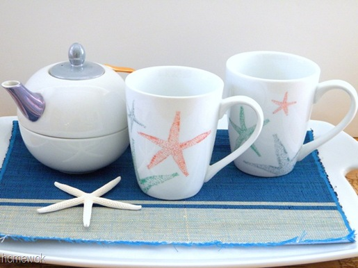 Sharpie Starfish Mugs