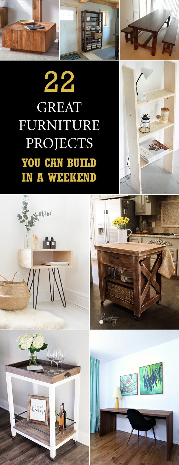 22 Great Furniture Projects You Can Build in a Weekend