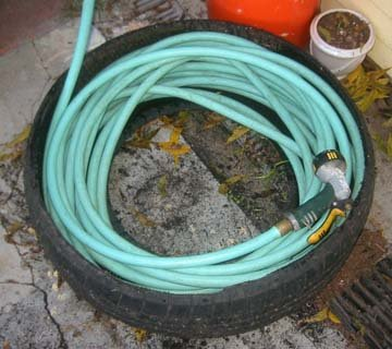 A Used Tire Hose Caddy
