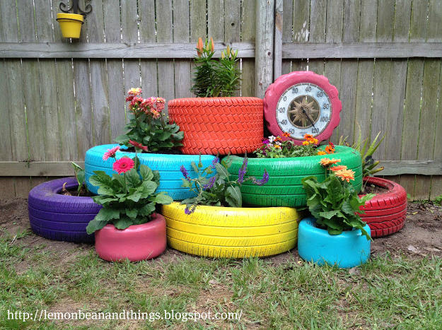 Old Tire Planters