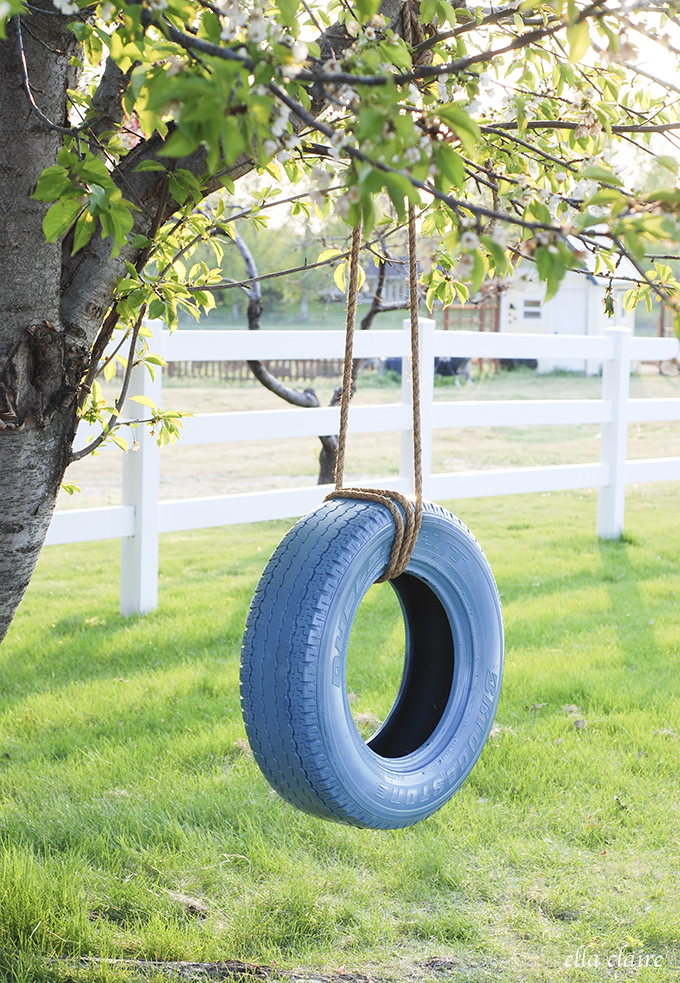 Easy Tire Swing