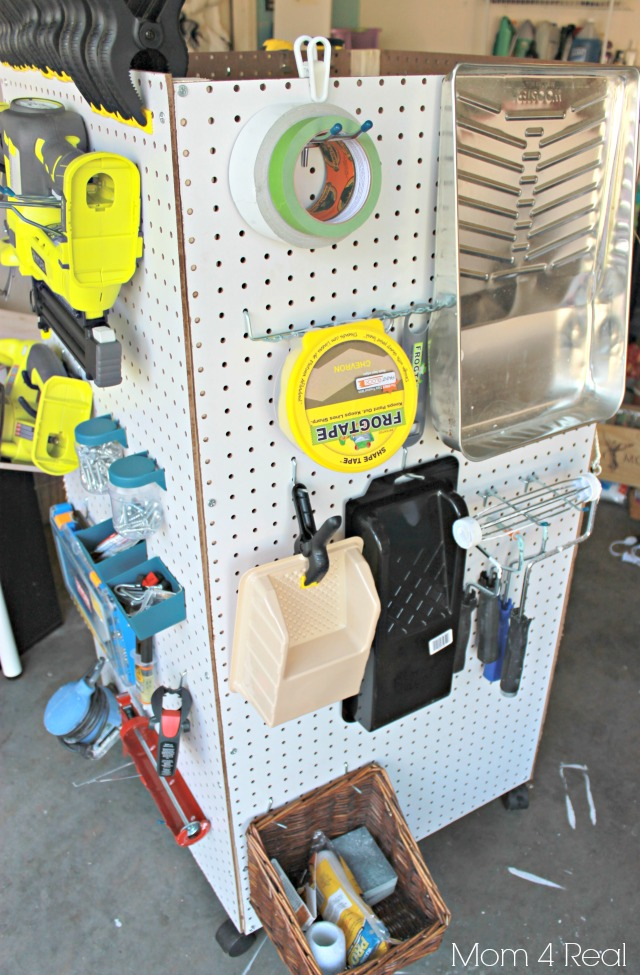 Mobile Pegboard Cabinet