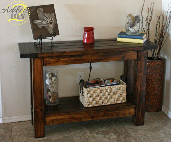 Pottery Barn Inspired Console Table