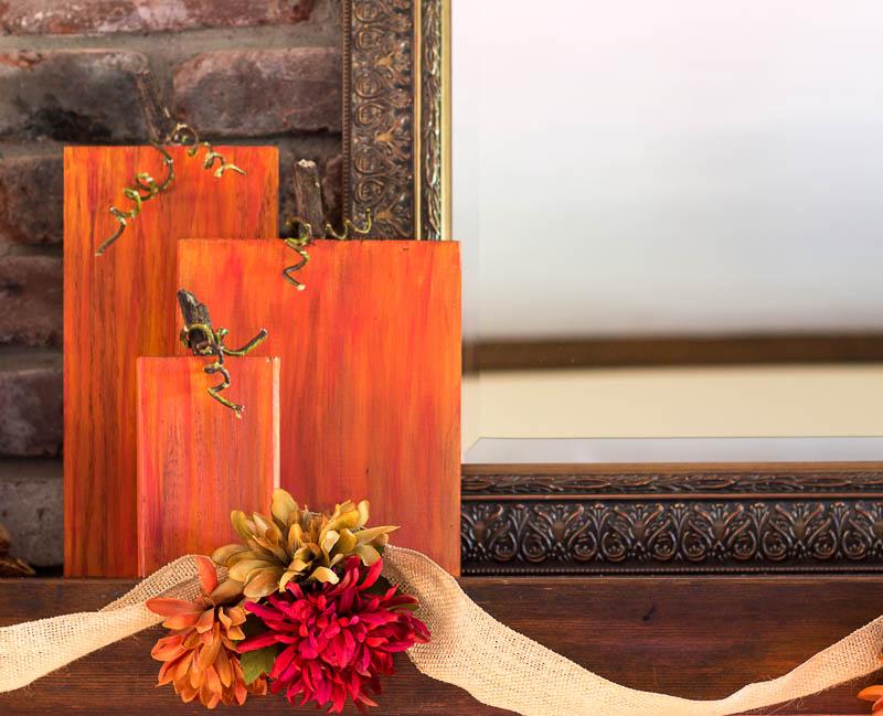Rustic Wooden Pumpkins Using Scrap Wood