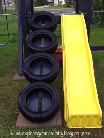 Swing Set Tire Ladder