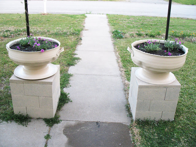 Tire Planter Columns