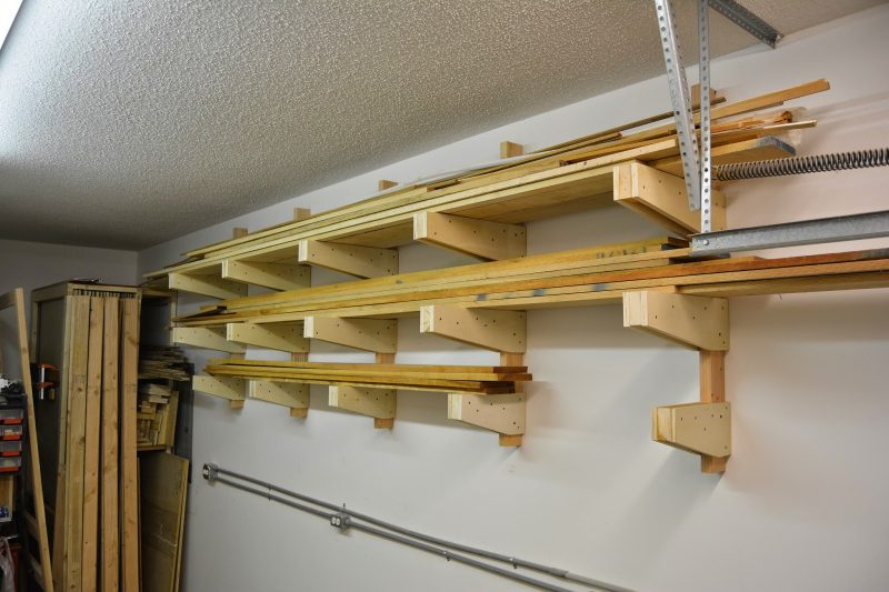 Wall Mounted Lumber Rack