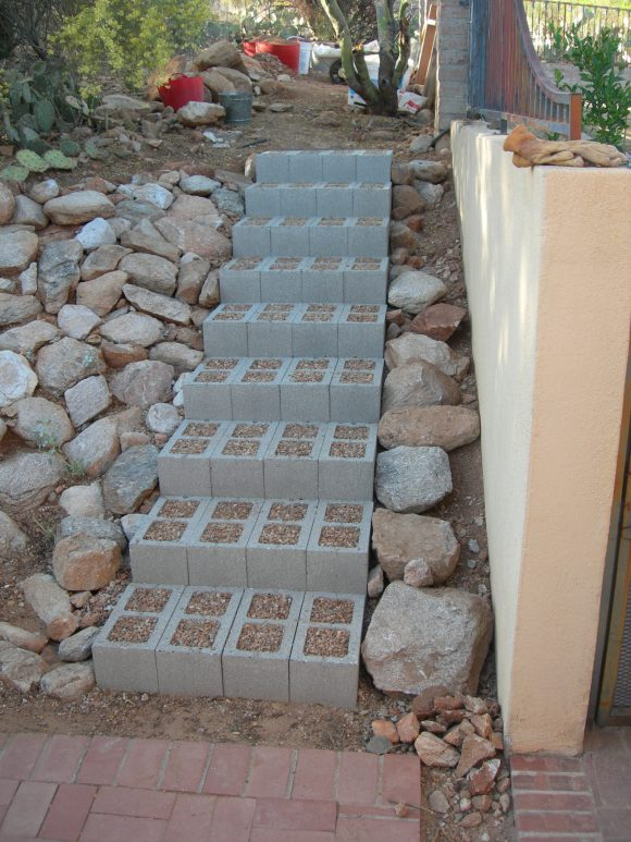 Cinder Block Stairs