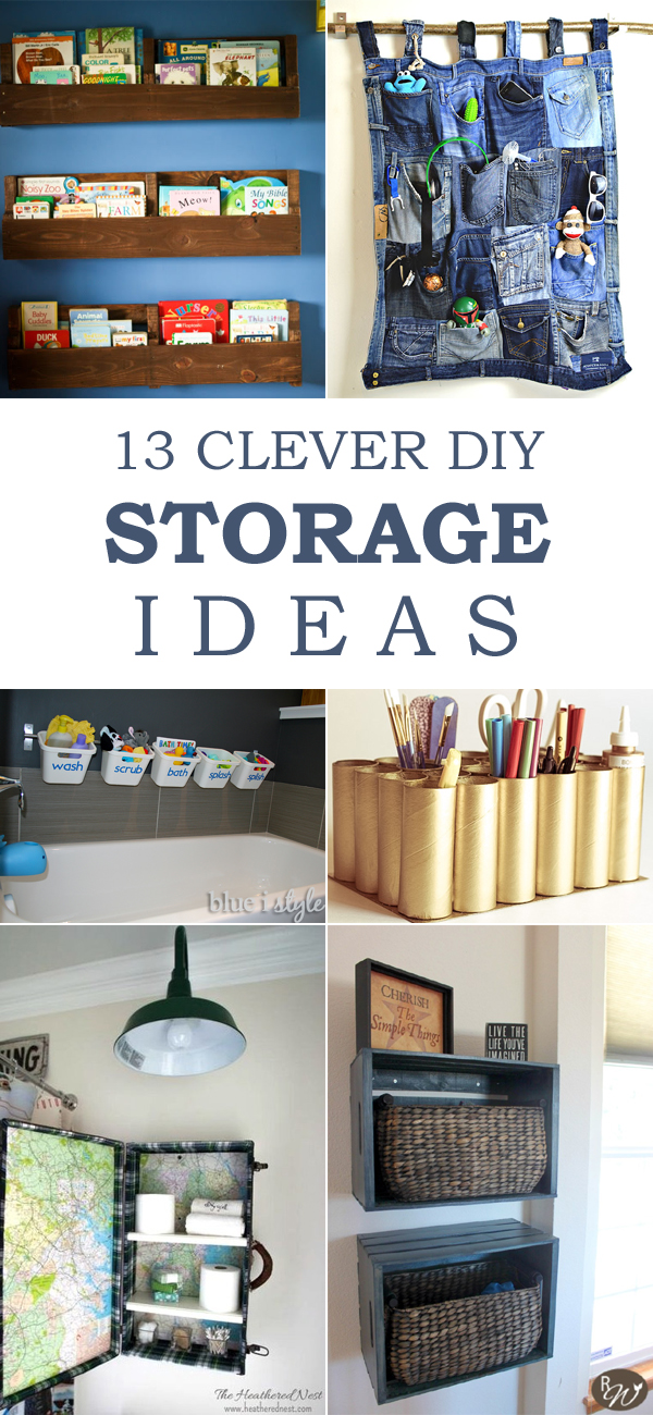 13 Clever DIY Storage Ideas