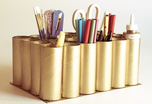 Create a Desktop Caddy Using TP Tubes