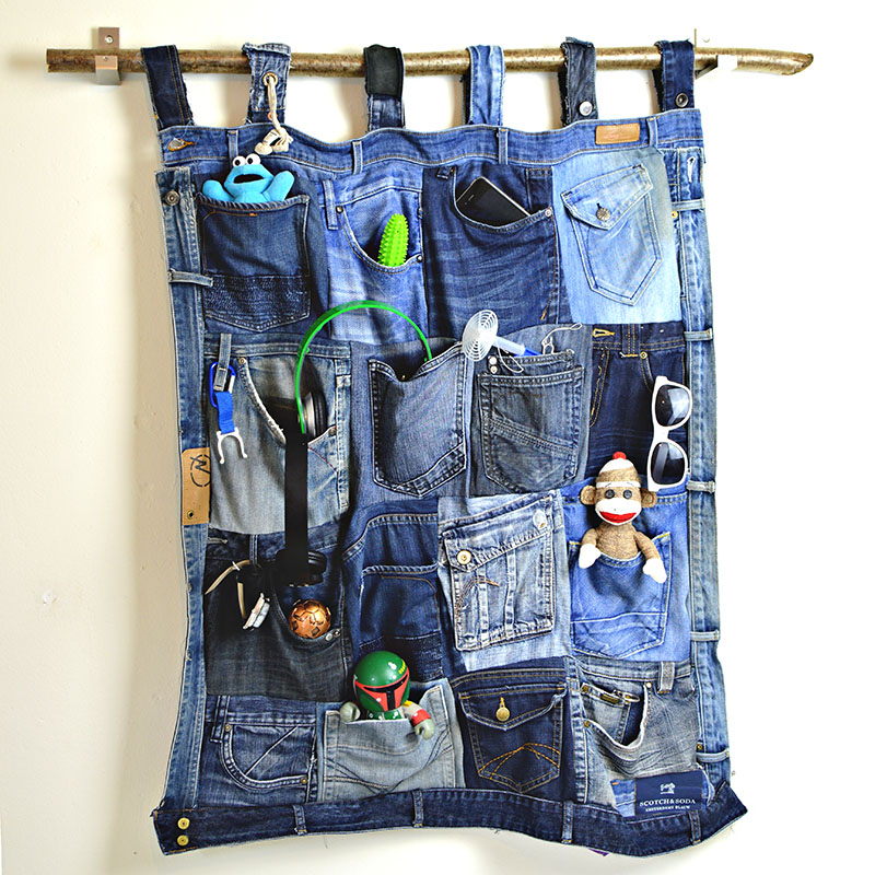 Upcycle Old Jeans into a Great Denim Pocket Organiser