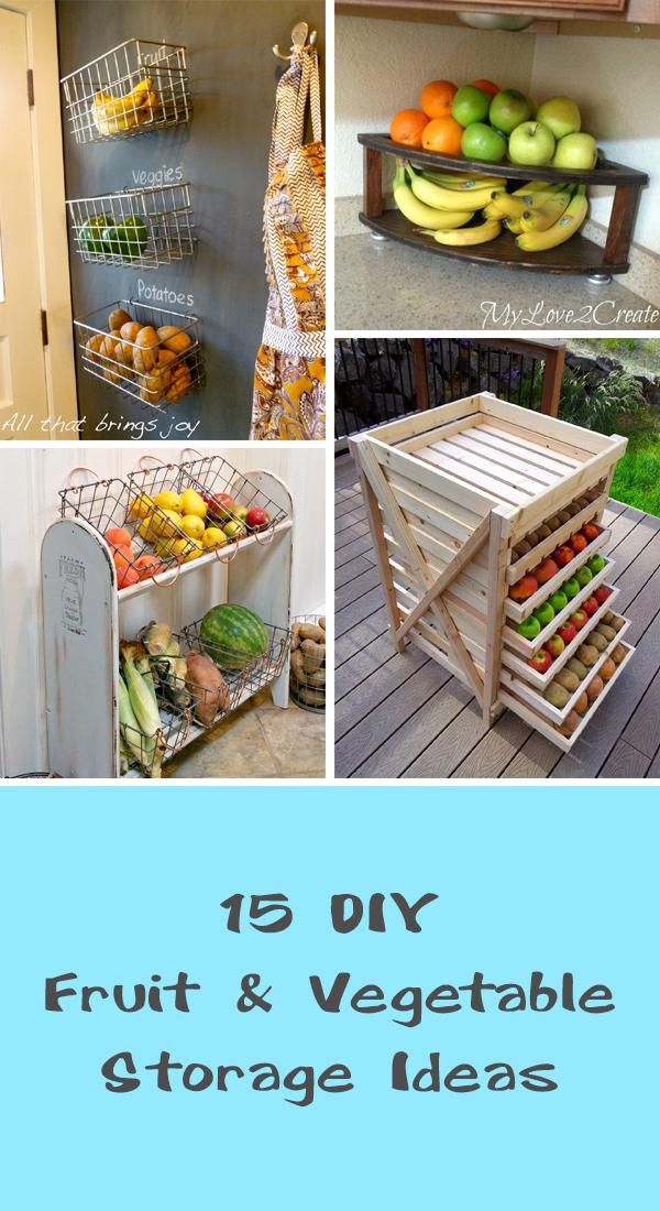 15 DIY Fruit & Vegetable Storage Ideas