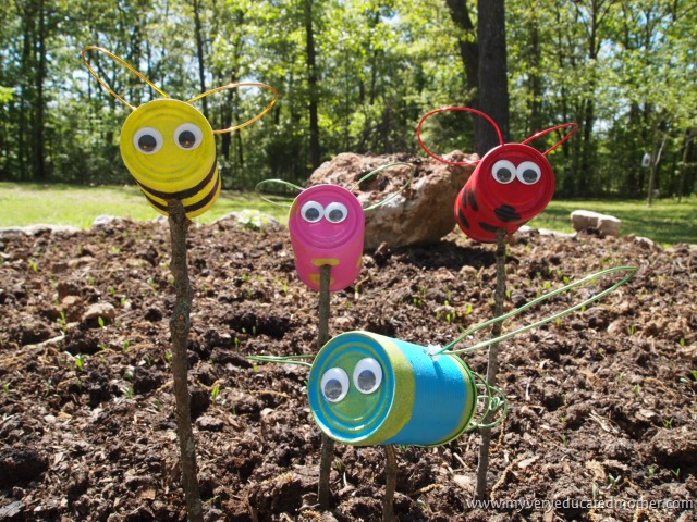 Cute Tin Can Lawn Critters
