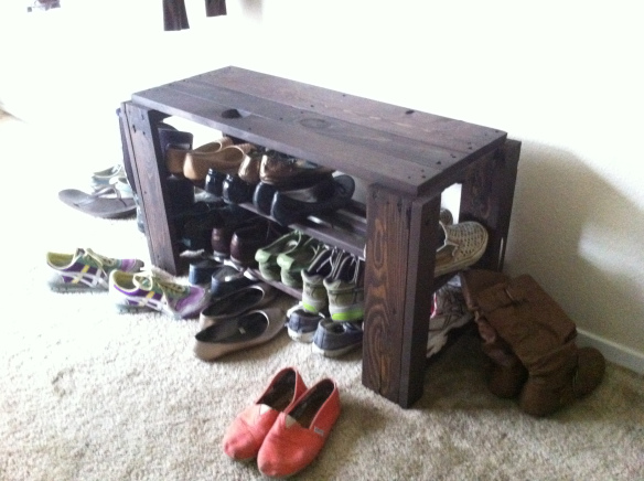 Pallet Shoe Rack Bench