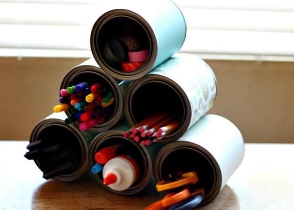 Tin Can Craft Organizer