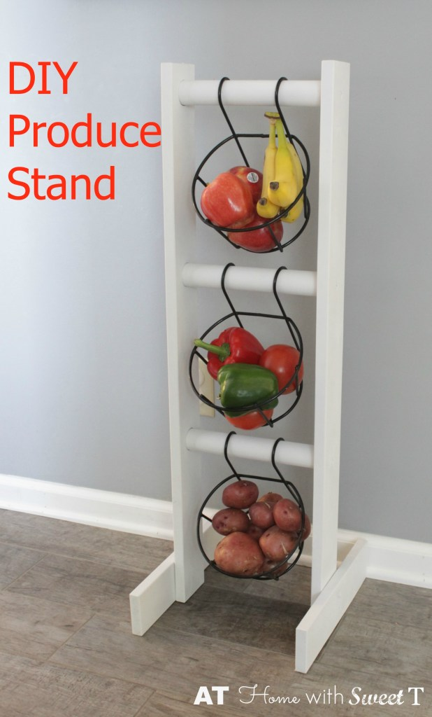 hanging basket produce stand