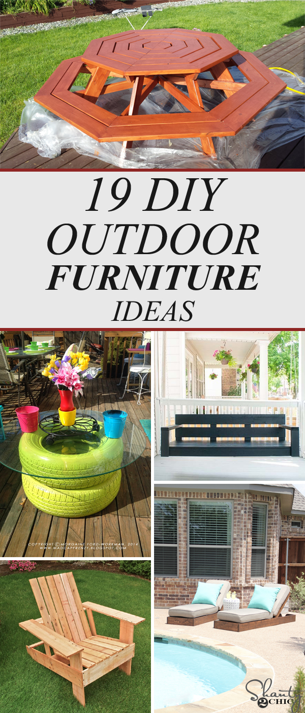 19 Amazing Diy Outdoor Furniture Ideas