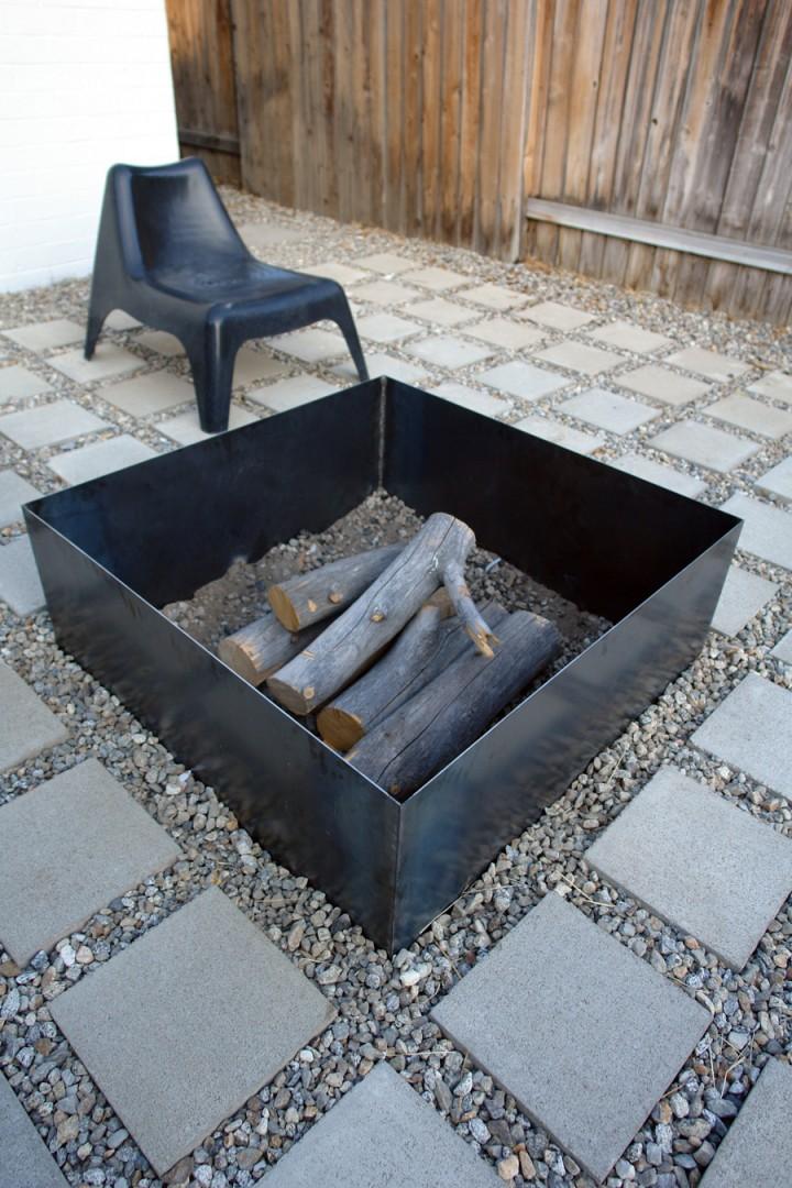 Steel Box Fire Pit
