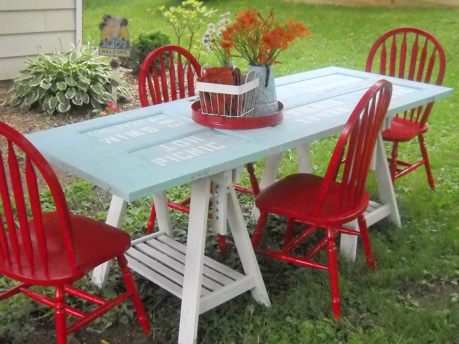 Turn An Old Door Into A Table