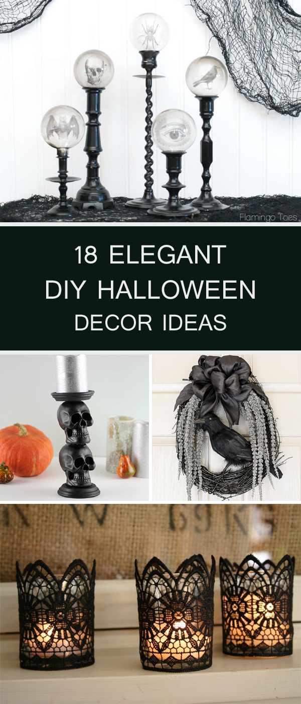 18 Elegant DIY Halloween Decor Ideas
