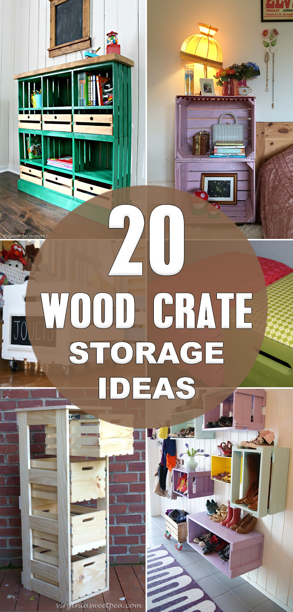 20 Wood Crate Storage Ideas To Organize Your Stuff