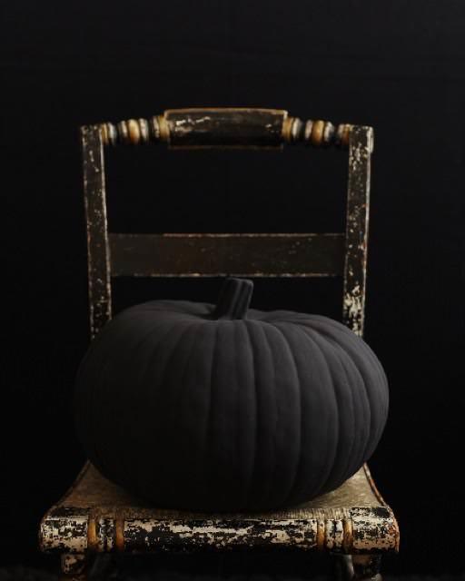 Big and Black Pumpkin