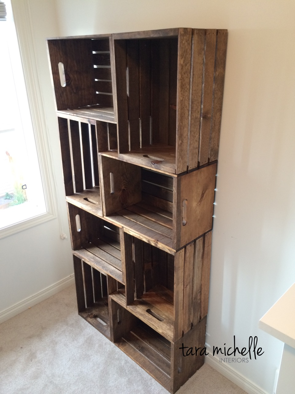 Crate Bookshelf & 20 Creative DIY Wood Crate Storage Ideas