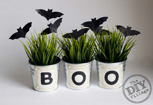 Halloween Spooky Bats and Boo Buckets