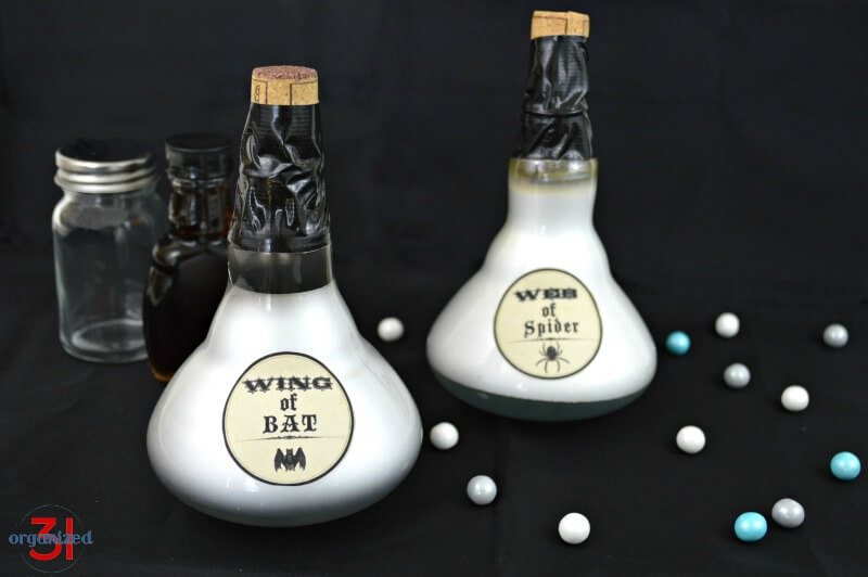 Light Bulb Potion Bottles