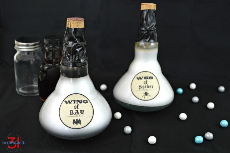 Light Bulb Potion Bottles