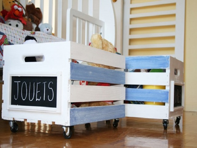 Rolling Toy Storage Bins