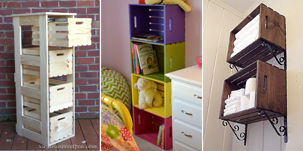 & 20 Creative DIY Wood Crate Storage Ideas
