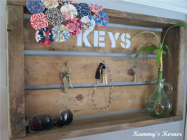 Wood Crate Key Rack