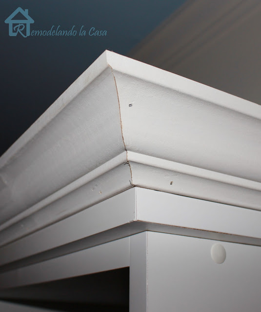 Add Crown Molding to the top of Furniture