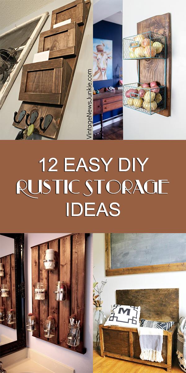 12 Easy DIY Rustic DIY Storage Ideas