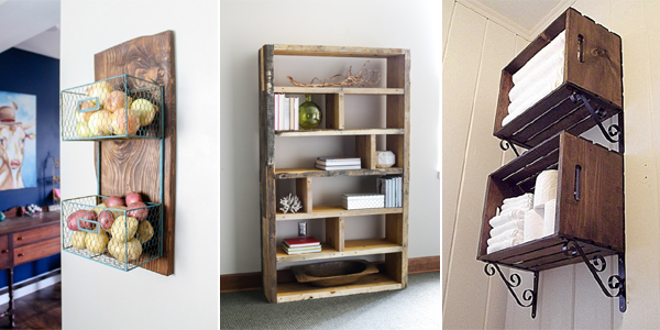 12 Easy DIY Rustic Storage Ideas